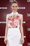 Kate Bosworth wore Preen to promote her skin care line SK-II.