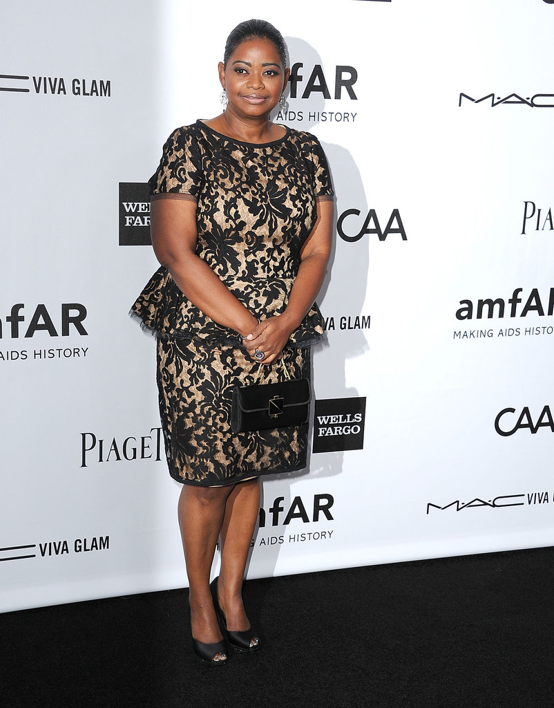 Octavia Spencer attended the amfAR 3rd Annual Inspiration Gala in LA.