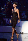 Halle Berry was on stage to pay tribute to Whitney Houston.