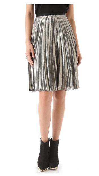 This Rachel Roy Sunburst Skirt ($328) may just be the perfect party skirt, but don't underestimate how cool it will look pared down with novelty knits, tights, and ankle boots for a more casual ensemble.