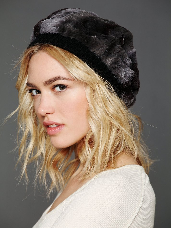 Kick up the cool factor on your beret-meets-beanie quotient with a faux fur finish. We're particularly keen on this version from Free People ($38), which has a stretchier opening for maximum floppiness.
