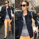 Stacy Keibler has a pretty perfect Fall style formula, with a great peacoat we're shopping for ourselves.