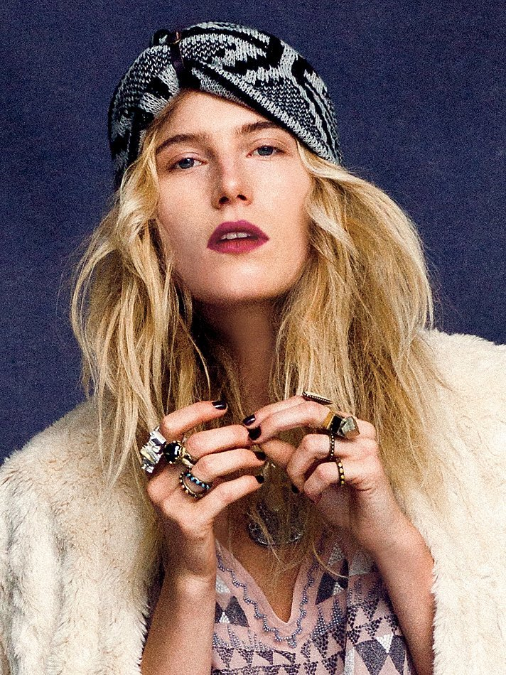 If we could look half as cool as Dree Hemingway in this Free People jacquard headwrap ($34), we're willing to give it a try. Plus, add an oversize coat and a big layered scarf, and you're pretty much set for the outdoor temps.