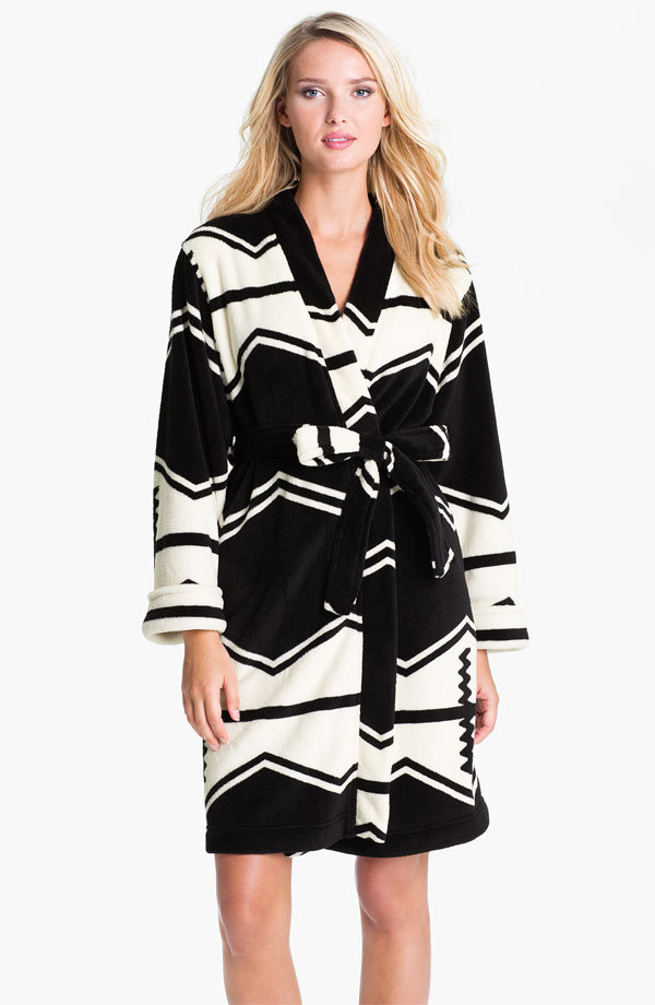 This amazing, cozy Lauren Ralph Lauren Sleepwear Zigzag Stripe Plush Robe ($78) is cute enough to wear on the streets.