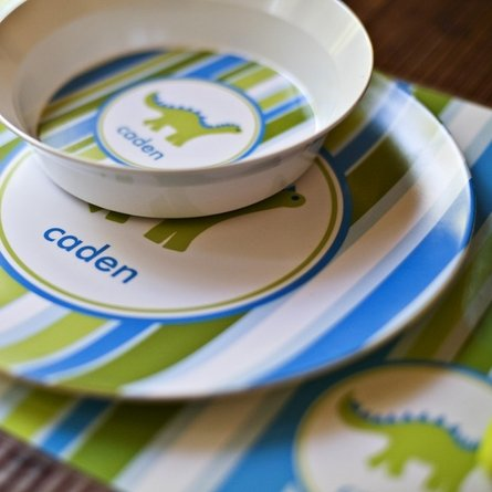 Personalized Boys Three-Piece Dinnerware Set