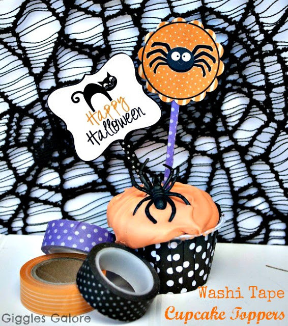 Washi Cupcake Toppers
