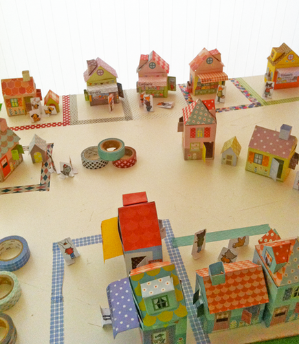 Crafts: A Washi Tape Village