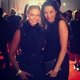 Lara Bingle and Kym Ellery looked gorgeous at the SK-II dinner with Kate Bosworth. Source: Instagram user mslbingle