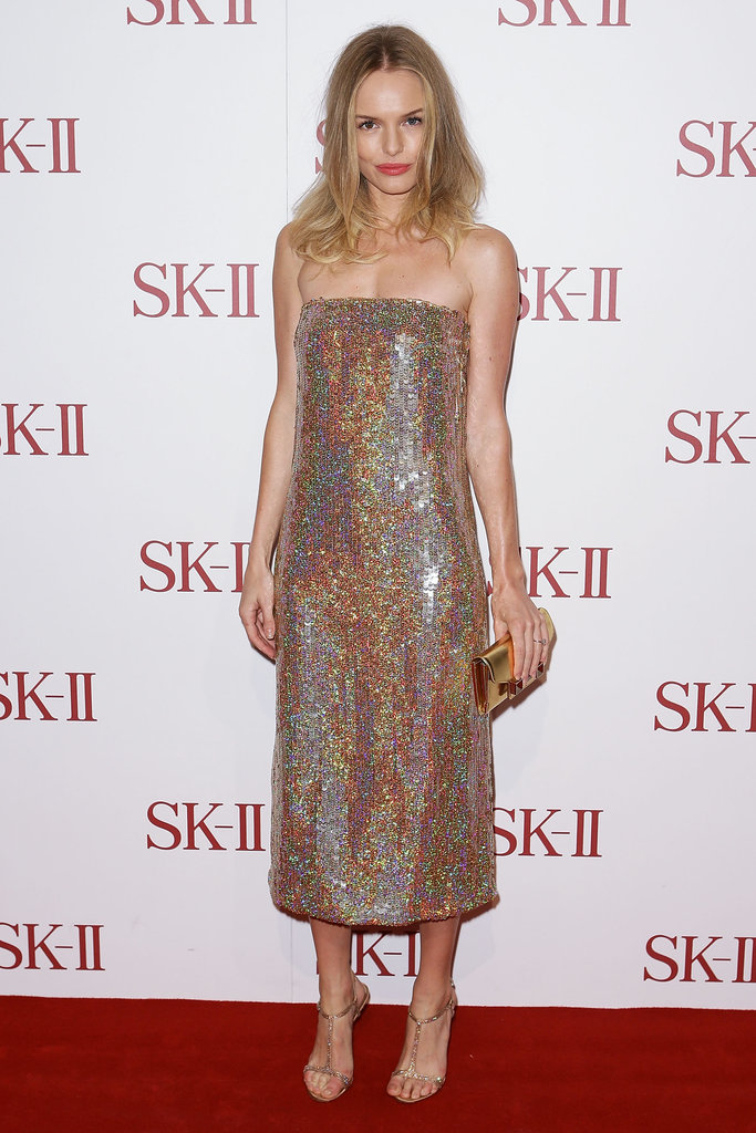 Kate Bosworth was dazzling on the red carpet in Sydney on October 11. She's in town to promote luxe skincare label SK-II, which she is the new face of.