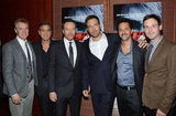 Attending an Argo screening in New York on October 9, actors Tate Donovan, George Clooney, Bryan Cranston, Ben Affleck, Grant Heslov and Scott McNairy were looking dapper in their suits.