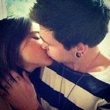 Rhiannon Fish and Reece Mastin got their PDA on. Source: Instagram user reecemastinofficial
