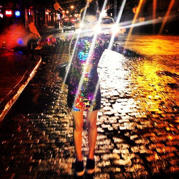 Aussie model Bambi shined bright like a diamond in New York City. Source: Instagram user stefbambi_