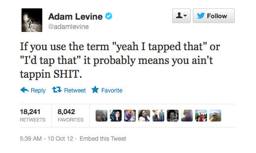 Adam Levine says it like it is.