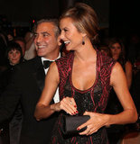 Stacy Keibler accompanied George Clooney to the Carousel of Hope Ball in October 2012 and got to meet celebrities like Sidney Poitier, Clive Davis, and Neil Diamond.