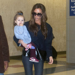 Victoria Beckham and Harper Travel to NYC | Pictures