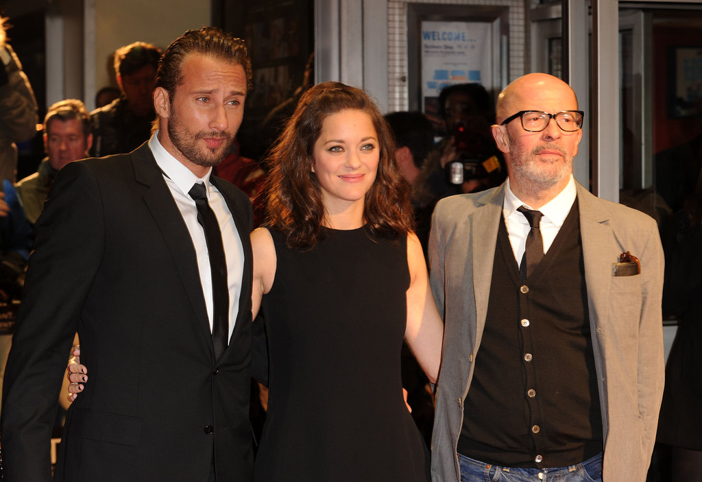 Marion Cotillard posed for photos with Matthias Schoenaerts and Jacques Audiard at the London Film Festival.