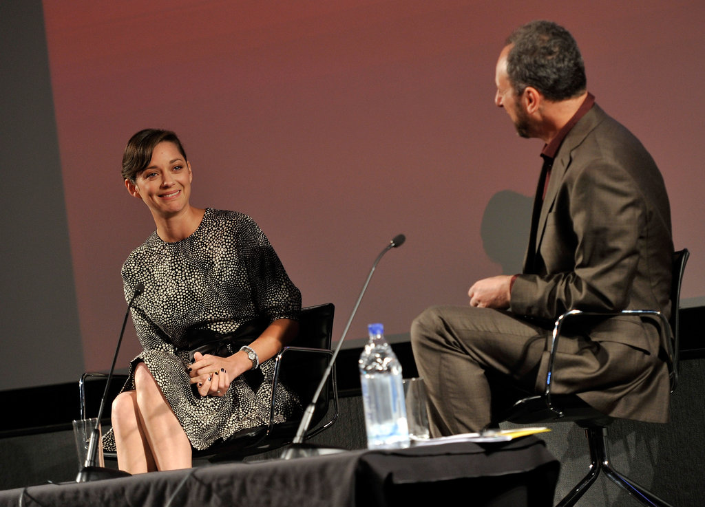 Marion Cotillard stepped out in London for a screen talk.