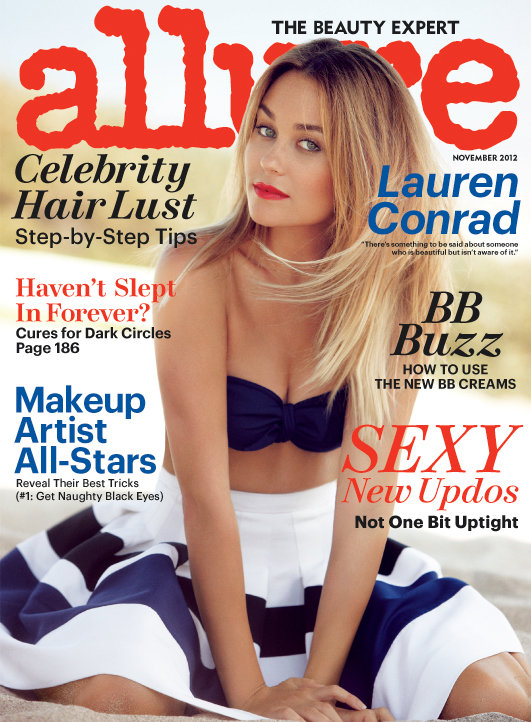Lauren Conrad covered the November issue of Allure.