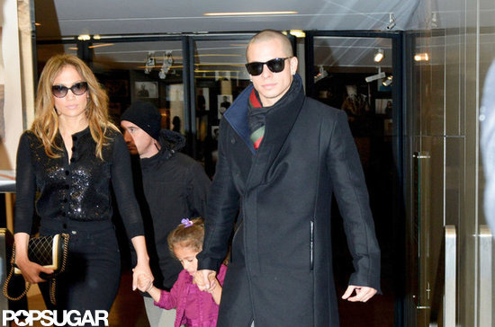 Jennifer Lopez and Casper Smart held Emme Anthony's hands while shopping in Paris.