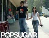 Jennifer Love Hewitt and John Mayer held hands while running errands around LA in July 2002.