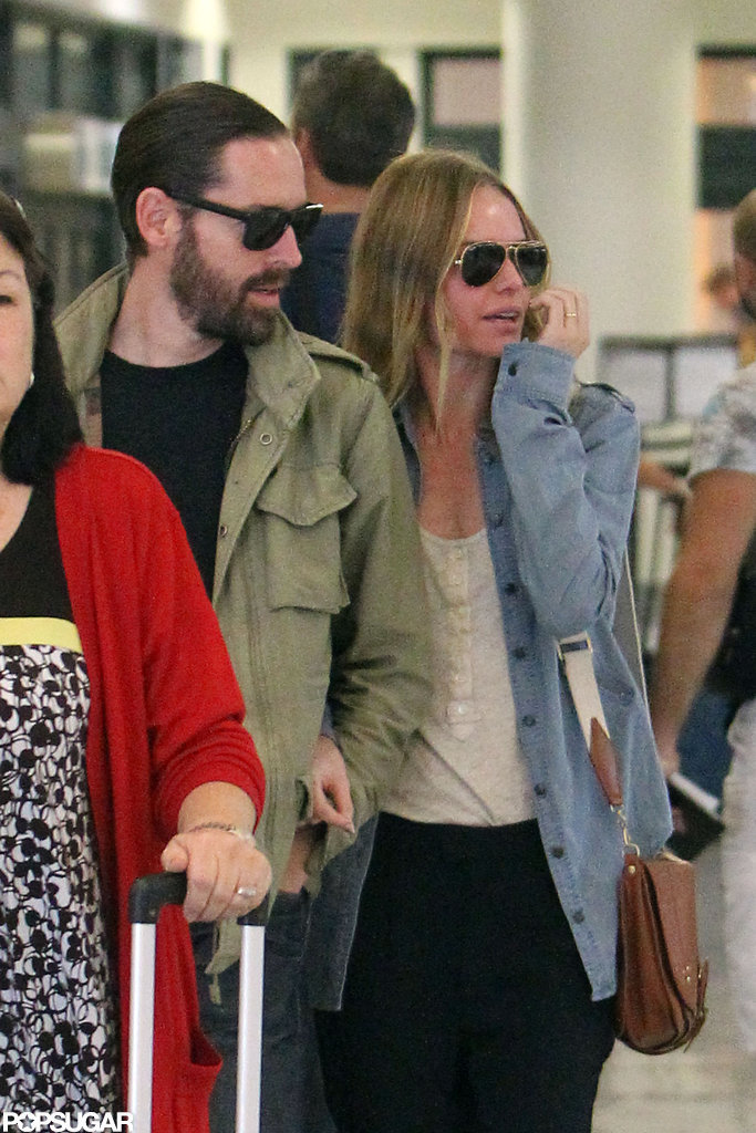 Kate Bosworth and Michael Polish kept their arms looped.