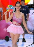 Katy Perry performed on NBC's Today in NYC's Rockefeller Center in August 2010.
