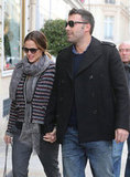 Ben Affleck and Jennifer Garner Show Love in Paris!