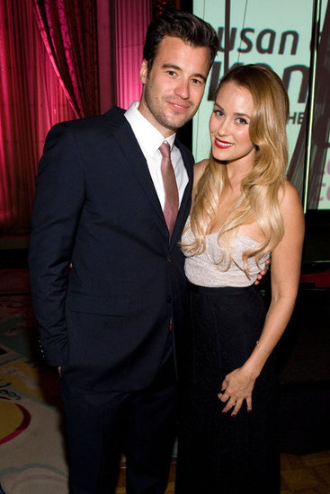 Lauren Conrad posed with boyfriend William Tell at the Susan G. Komen foundation's Designs For The Cure gala in LA.