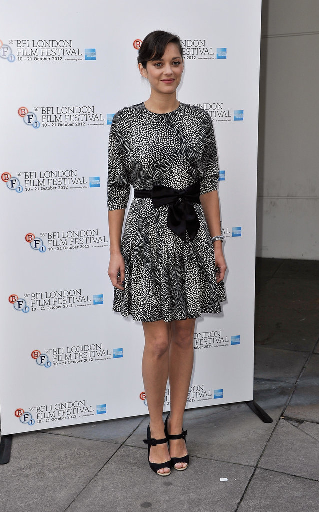 Marion Cotillard posed for photos at a screen talk as part of the London Film Festival.