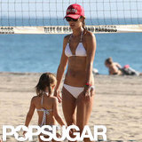 Alessandra Ambrosio and Anja Mazur hit the beach in Malibu.