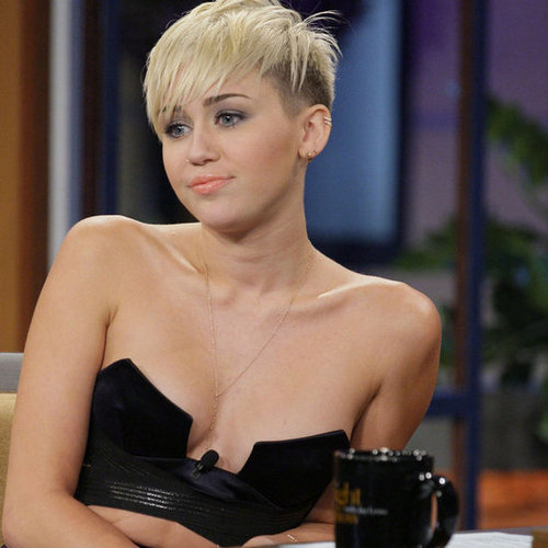 Miley Cyrus in a Bustier Top and Maxi Skirt Pictures on The Tonight Show