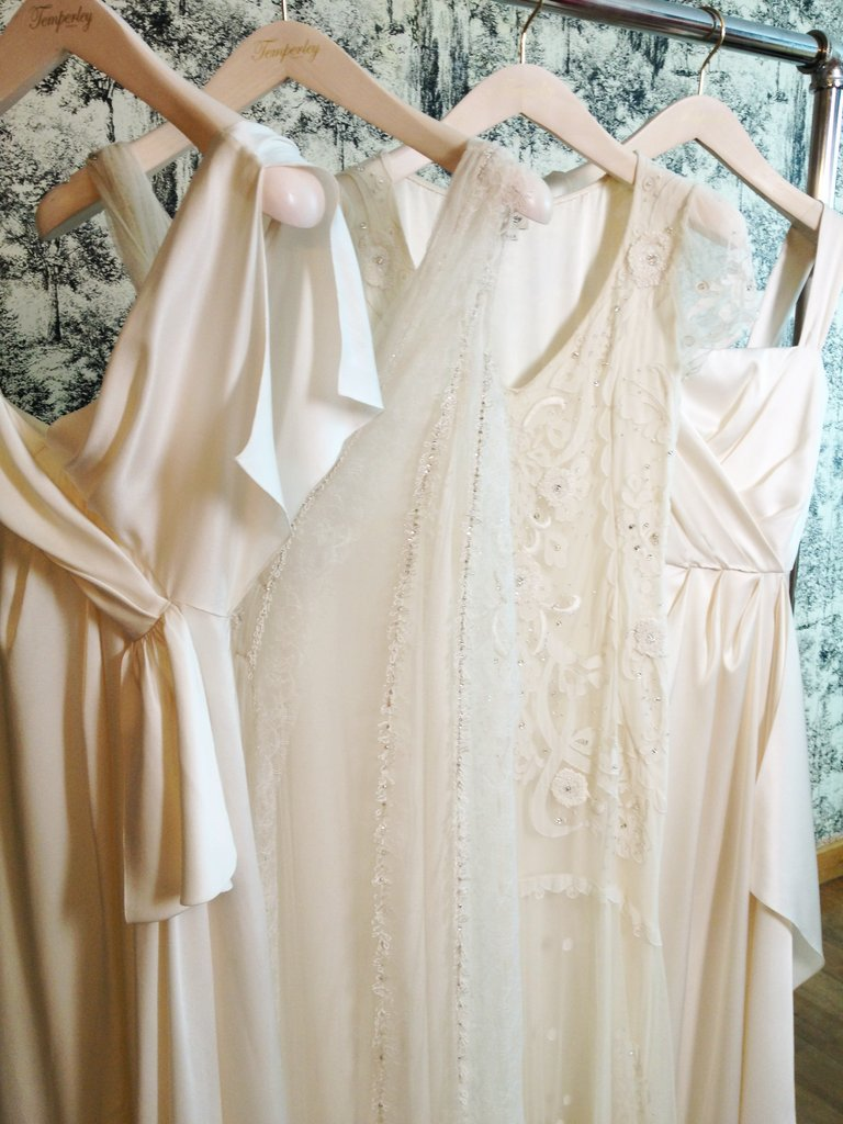 A close-up on dress details.