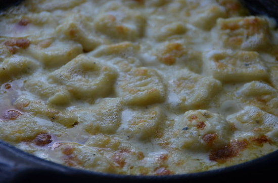 Baked Gnocchi in Smoked Blue Cheese Sauce