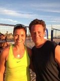 """Looks like Go On is headed to the beach! Matthew Perry commented, """"Beach volleyball all day with Misty May Treanor. This continues to be the best job ever. #GoOn"""" Source: Twitter user Matthew Perry"""