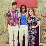 British artists Katy B and Mark Ronson met with First Lady Michelle Obama at the White House. Source: Instagram user katyb
