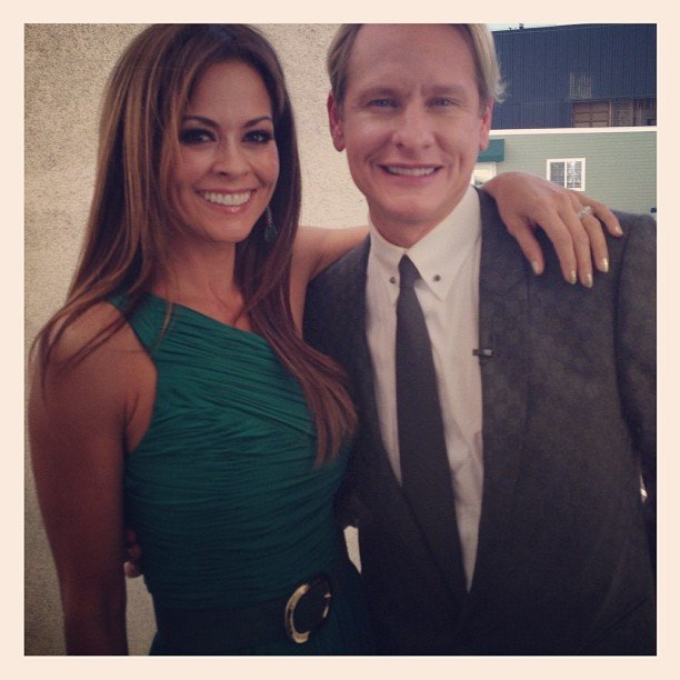 Brooke Burke posed with Carson Kressley on the set of Dancing With the Stars. Source: Instagram user thebrookeburke