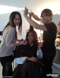 Eva Longoria got her glam on with Ken Paves. Source: Eva Longoria on WhoSay