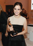 Emma Watson posed for photos at the Elle Women in Hollywood Awards.