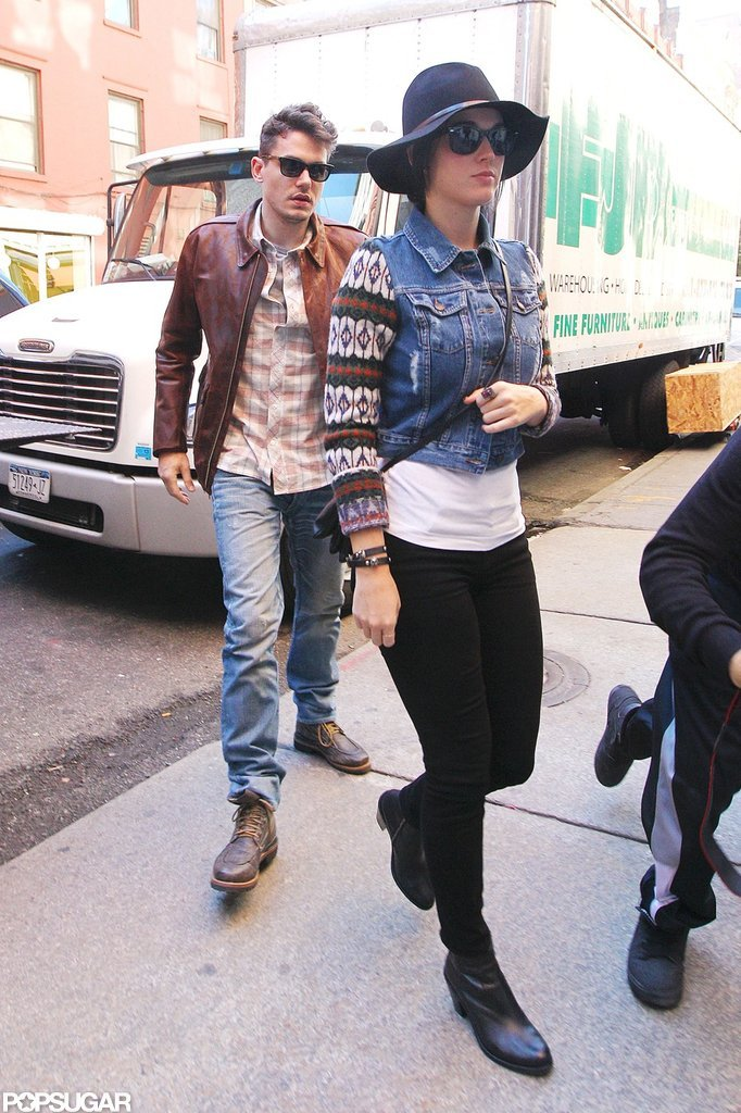 Katy Perry and John Mayer kept close in NYC.