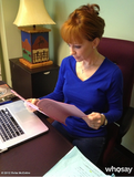 Reba McEntire read a script before rehearsals. Source: Reba McEntire on WhoSay