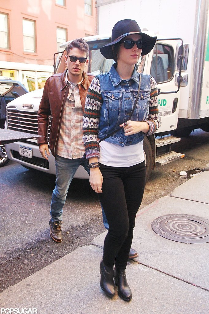 Katy Perry and John Mayer hit the streets of NYC before heading to lunch.
