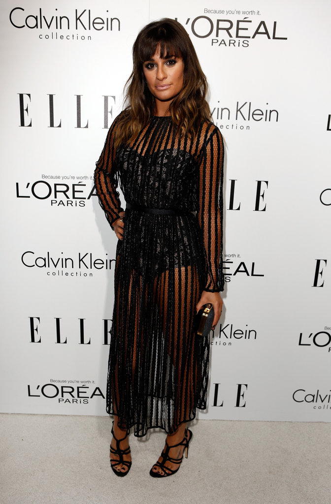 Lea Michele wore a Zimmerman dress at the Elle Women in Hollywood Awards in LA.