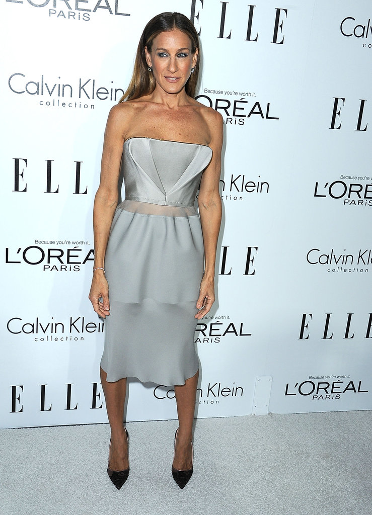 Sarah Jessica Parker posed for photos at the Elle Women in Hollywood Awards in LA.