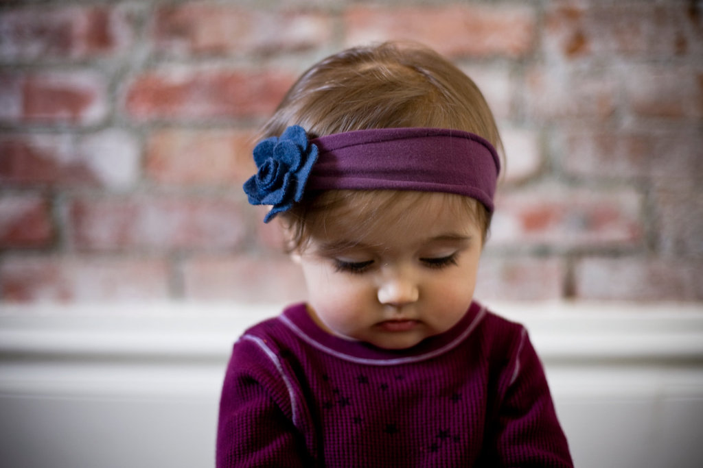 Felted Blue Cashmere Flower Headband