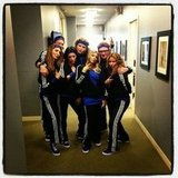 Fergie busted a move with the crew of Chelsea Lately. Source: Instagram user fergie
