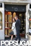 Olivia Wilde and Liam Neeson walked in Rome as part of the filming of The Third Person.