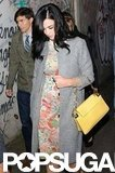 Katy Perry wore a floral dress in NYC.