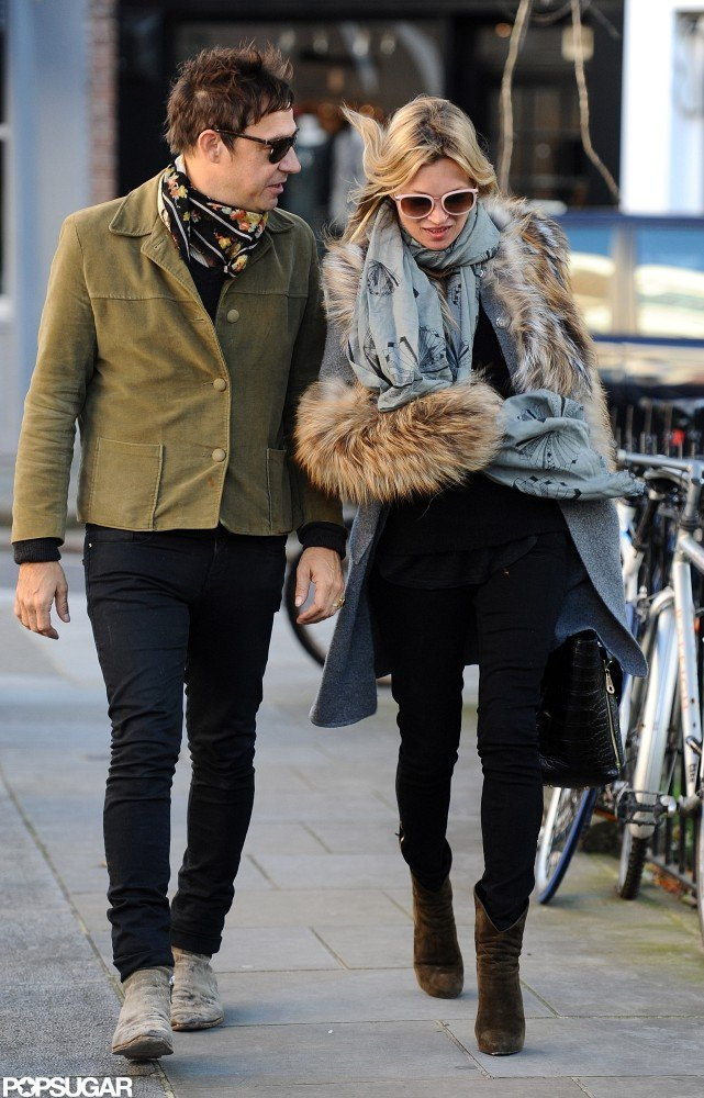 Kate Moss and Jamie Hince strolled and chatted in London.
