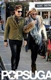 Kate Moss walked with husband Jamie Hince in London