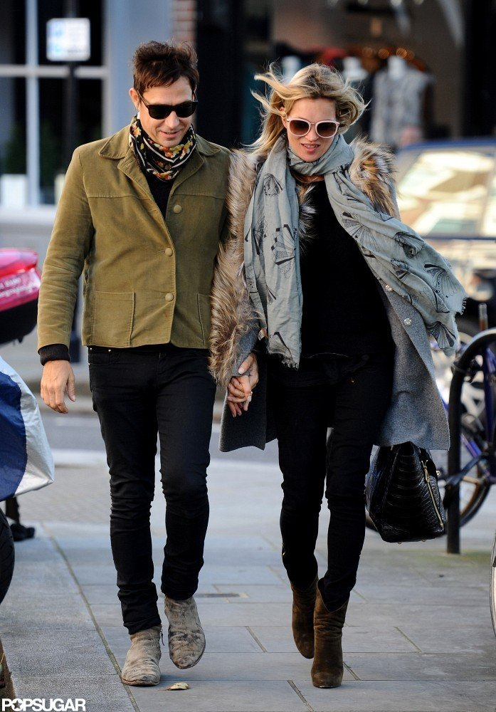 Kate Moss and Jamie Hince walked in London